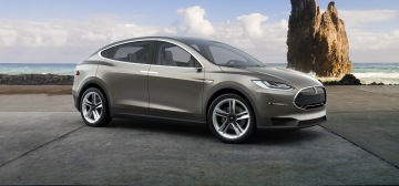 photo: Tesla model X car