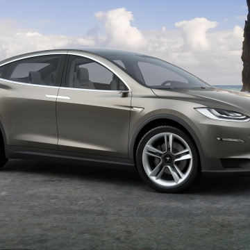 photo: Tesla model X car