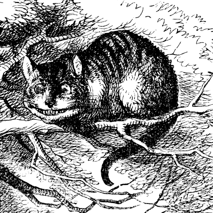 Cheshire cat as used in original book, Tenniel